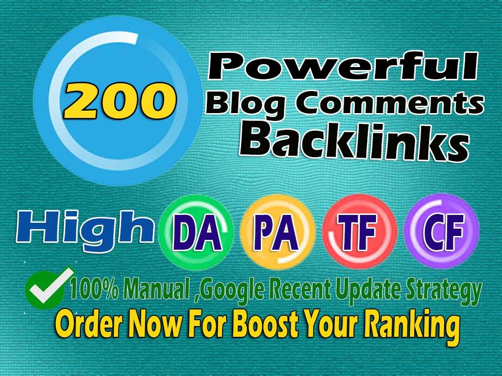I will do 200 Powerfull blog comment seo backlinks For Google