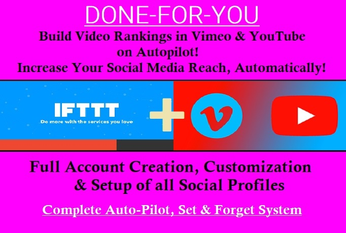 IFTTT VIDEO Syndication Network for Youtube & Vimeo | Legiit