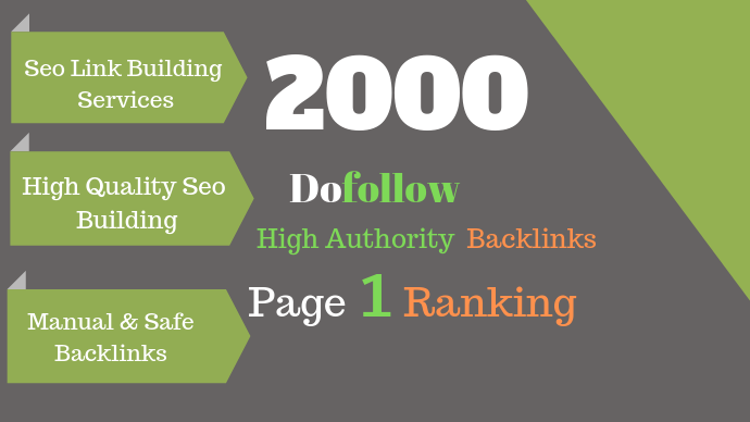 I Will Create 2000 Dofollow Backlinks For Top Ranking In