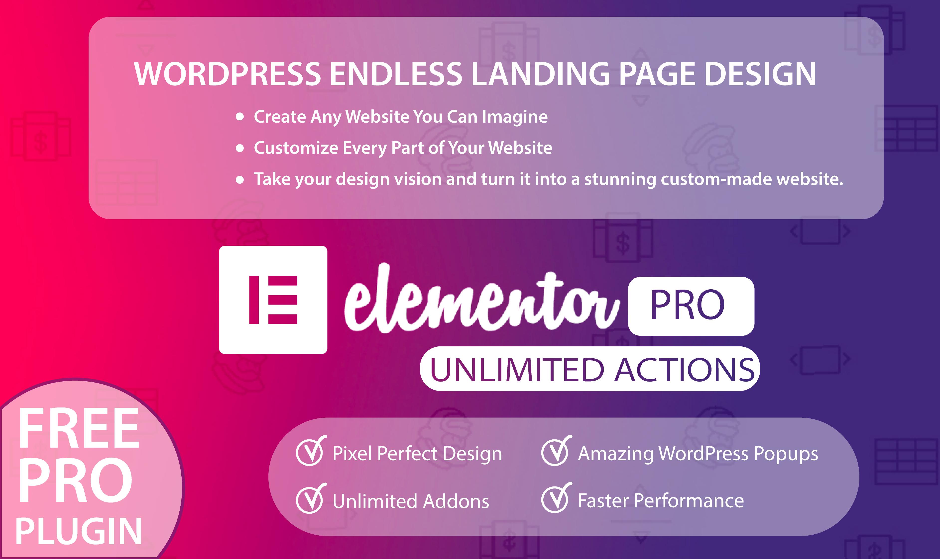 Endless WordPress Design Using Elementor Pro   Legiit